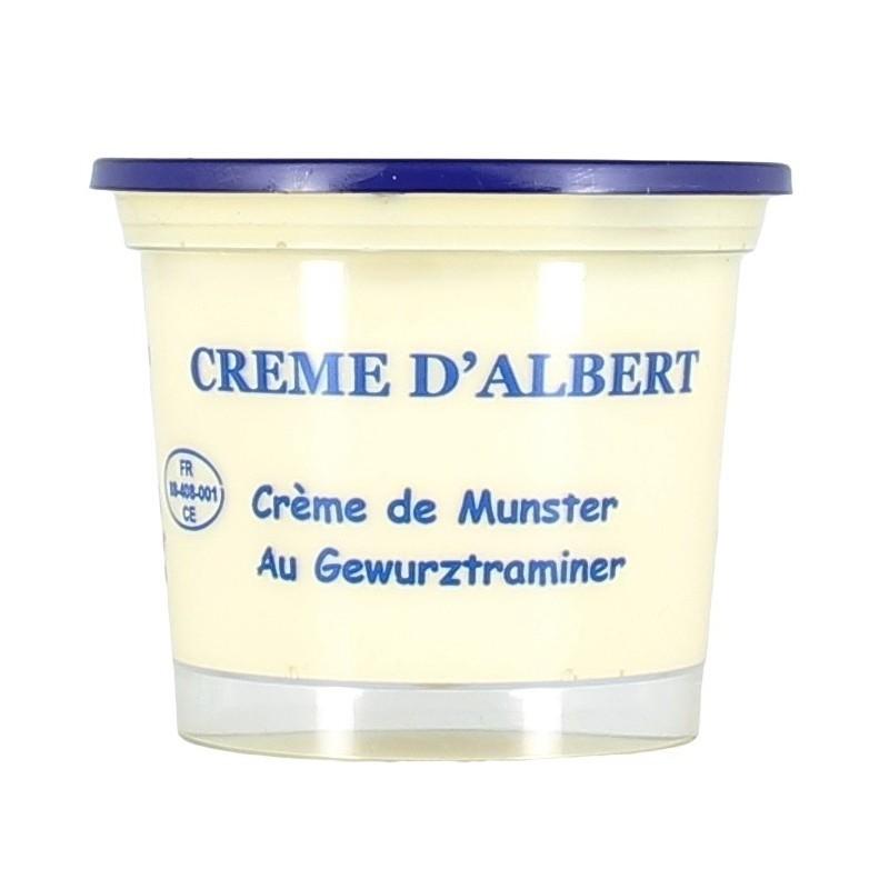 Crème d'Albert (crème de munster au Gewurztraminer)